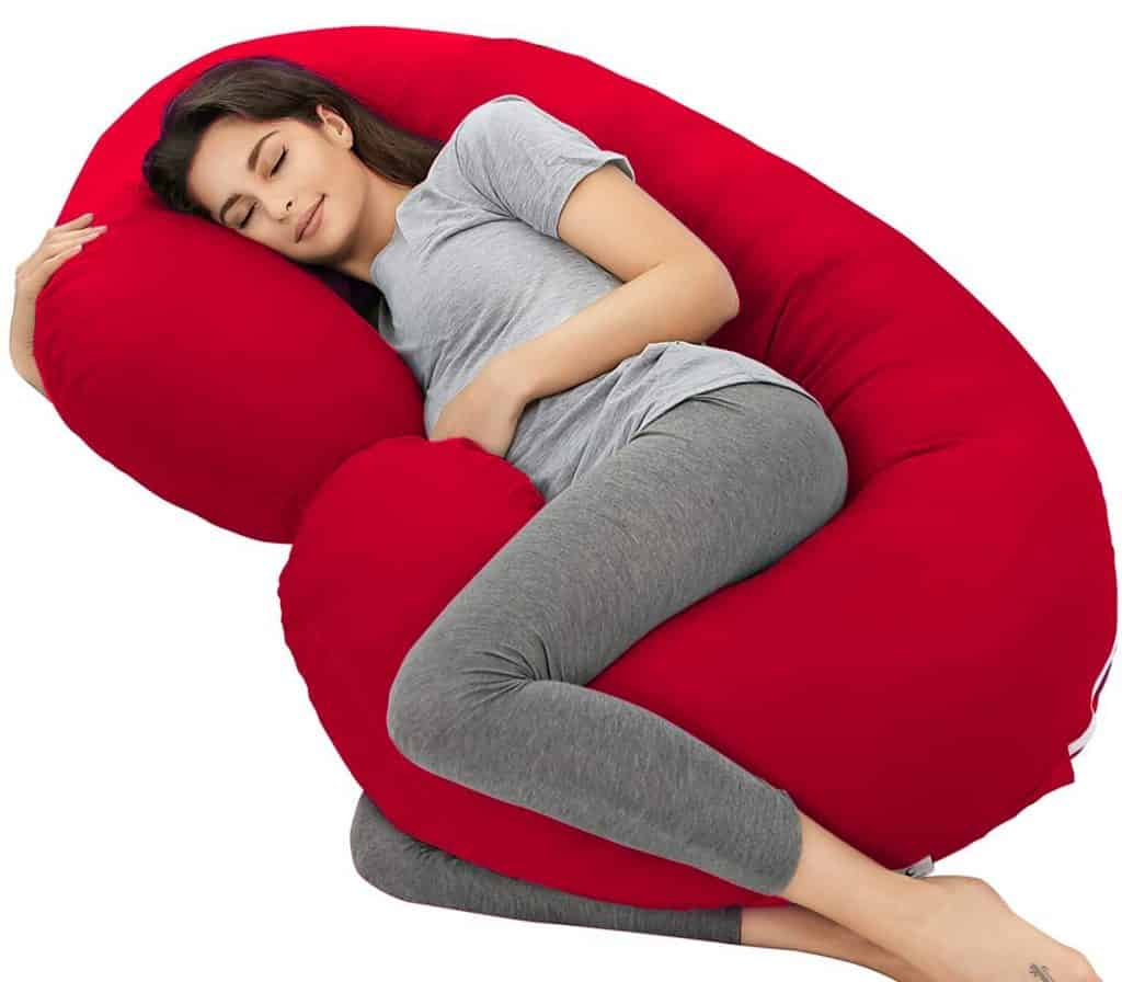 Mom's Moon Ultra Soft C Shaped Pillow